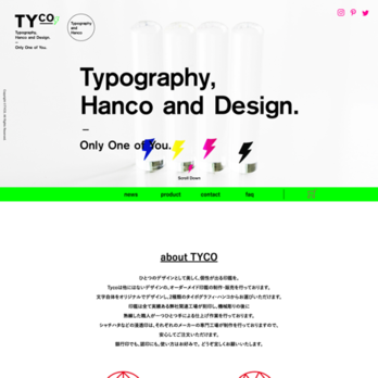 TYco : Typography, Hanco and Dsign (タイコ)